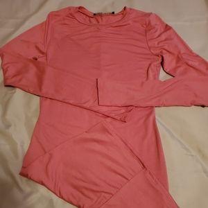 Naked wardrobe all bodycon mini dress pink